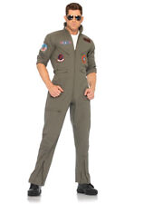 Top Gun Adult Flight Suit Maverick Goose Iceman Costume
