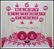 ** BARBIE PERSONALISED Pink Girls Birthday Party Decorations Scene Setter Doll *