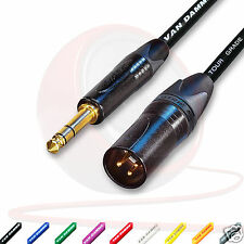 Van Damme STARQUAD Balanced Lead - Neutrik Gold Male XLR to TRS Jack Cable.