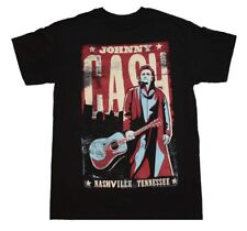 Johnny Cash Nashville Tennessee Classic Rock Country Music Men's Black T-Shirt