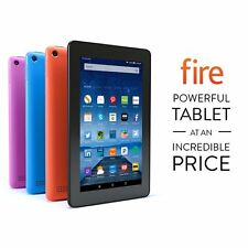"NEW Amazon Kindle Fire 7"" Display 8 16 GB Wi-Fi IPS Quad core Colors"