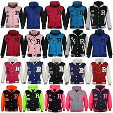 NEW KIDS GIRLS BOYS NYC FOX BASEBALL R FASHION STYLISH HOODED JACKET HOODIE 2-13