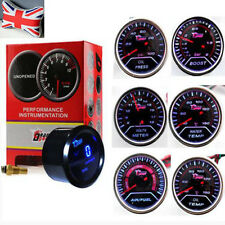 "2"" 52mm Auto Motor Car Boost/Water/Oil Temp/Pressure /Voltage /Air/Fuel Gauge UK"