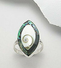 Sterling Silver Nautilus Shiva Shell Ring 925 Nautical Sea Life Beach Size 9 USA