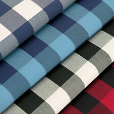 100% Woven Cotton Fabric by FQ Classic London Scottish Gingham Plaid Checked VP5