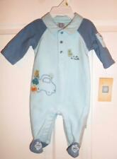 LITTLE ME Boy's Footed  Sleeper  You Choose Size 3 months or  6 months Blue  NEW