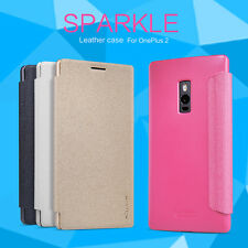 Nillkin Sparkle Series Matte PU Leather Filp Wallet Case Cover For OnePlus Two