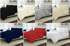 LUXURY 200TC 100% EGYPTIAN COTTON DUVET QUILT COVER PILLOWCASE BEDDING SET