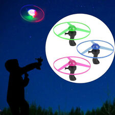 Kids Frisbees Boomerangs Flying Saucer Helicopter UFO Spin LED Light Outdoor Toy