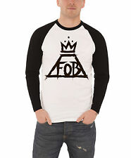 Fall Out Boy T Shirt Mens band logo White Crown new Official Baseball Shirt