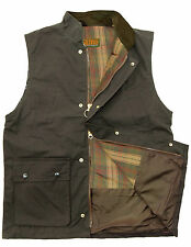 Mens Wax Quilted Gilet Bodywarmer   Waistcoat   Hunting   Outdoor   Fishing New