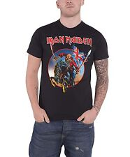 Iron Maiden T Shirt Euro Tour 2013 Trooper Band Logo Official Mens New Black