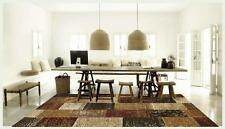 Lifestyle Patchwork Design Rust Floor Area Rug and Runners