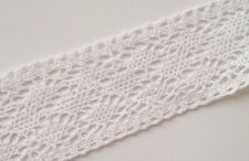 10 Yards Vintage Cotton Crochet Trims Stretch Lace Edge Trim Craft White