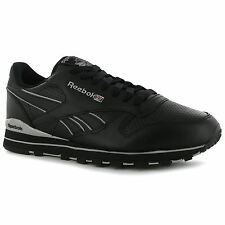 Reebok Classic Leather Clip Performance Mens Shoes Trainers Blk/Grey Sneakers
