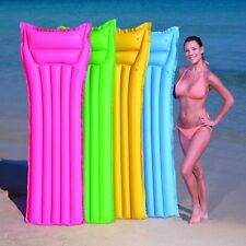 """72"""" Inflatable Lilo Air Bed Airbed Mat Float Pool Lounger Mat Swimming Beach New"""