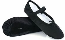 Black Ballet Satin Dance Shoes, Silky Finish, Full Sole Satin Shoes with elastic