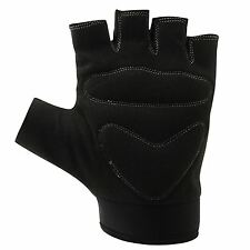 Dunlop Fingerless Cycling Gloves Adults Black Cycle BMX Mountain Bike Mitts