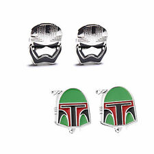 Star Wars Stormtrooper Storm Trooper / Boba Fett Helmet Men's Cufflinks Hot gift