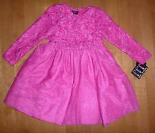 Toddler Girls Holiday Edition Pink Lace & Tulle Party Dress Size 2T 3T w/ Shrug