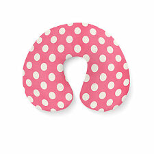 Polka Dots on Hot Pink Travel Neck Pillow - Inflatable
