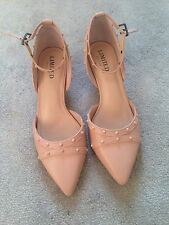 M&S Limited Edition Dusty Pink Shoes Size 4 Great Condition Perfect For Weddings