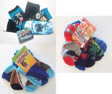 Character Toddler Boys Socks 5pk Avengers Scooby Power Rangers Size 6-8.5 NWT