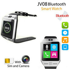 Bluetooth Camera SIM Slot Smart Wrist Watch For iPhone Samsung Android IOS Phone
