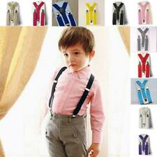 11Colors Baby Boy Girl Suspenders Clip on Y Back Elastic Adjustable Solid Braces