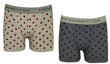 MENS PACK OF 2 UNDERWEAR BOXERS FRENCH CONNECTION IN GREY & BLUE COLOURS