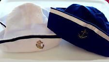 Women Lady Girl Sailor Anchor Captain Marine Costume Party Fancy Hat Cap PROP