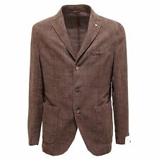 2501O giacca uomo L.B.M. 1911 lino marrone jacket men