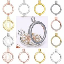 Mi Coin My Coin Moneda Holder Crystal Round Locket Pendant Fit Necklace 35mm New