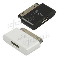 Micro USB Female to 30pin Male Charger Adapter Dock Fr iPhone 4S 4 iPad 2/3 iPod