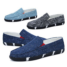Men's Driving Moccasins Loafers Boat Casual Breathable Weave Slip Ons Shoes Z112