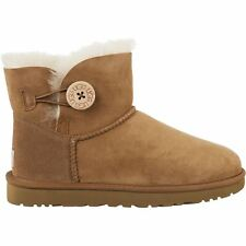 Ugg Australia W Mini Bailey Botton Chestnut Womens Boots