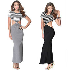 Women Sexy Summer Beach Bare Waist Slim Wrap Hip Maxi Long Dress Club Sundress