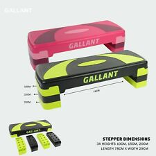 Gallant 3 Level Aerobic Stepper Adjustable Yoga Step Board Gym Fitness Exercise