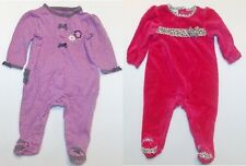 Small Wonder Infant Girls Footed Sleepers 2 Choices Size 3-6 Months EUC