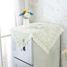 New Lace Floral Tablecloth Hollow Square Cloth Anti-slip Fridge Cover Room Decor
