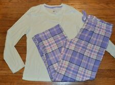 Sonoma 2 Piece Knit & Flannel Pajama Set Flannel Lounge Pants & Knit Top