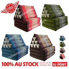 Large Thai Triangle Pillow Fold Out Mattress Cushion Day Bed THREE FOLDS 4color
