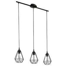 Tarbes Pendant Light Three in Black or Copper Eglo Lighting