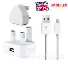 UK Wall Mains Charger Plug+ Micro USB Cable For Amazon Kindle Fire HD Paperwhite