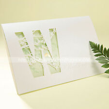 Personalized Cut-out Tri-fold Wedding Invitations Cards With Envelopes and Seals