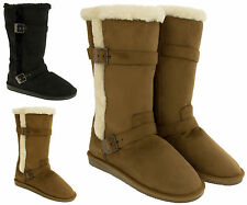 Ladies Red Rock Winter Boots Faux Suede Faux Fur Lined Boots Size 3 4 5 6 7 8