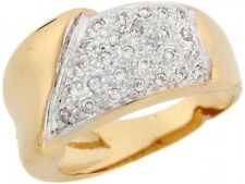 10k / 14k Two-Tone Yellow and White Gold Beautiful Ladies CZ Ring