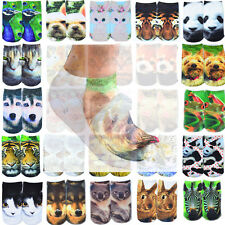 1 Pair Casual Women Fashion Low Cut Ankle Socks Cotton 3D Printed Animals