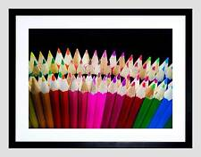 PHOTOGRAPH COLOURING PENCIL POINT BLACK FRAMED ART PRINT PICTURE B12X4793