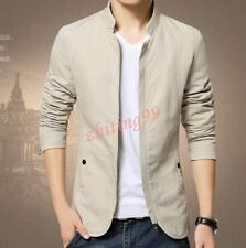 5 Colors Spring Mens Korean Slim Cotton Casual Thin Coats Jackets Vogue Casual